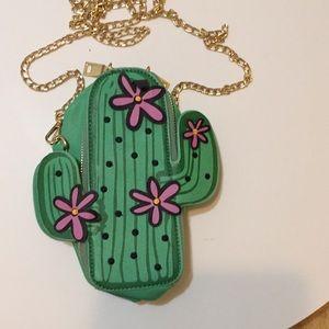 Hello 3 am Purse Cactus shaped